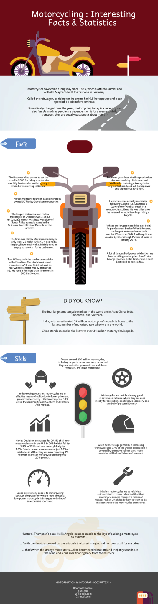 interesting facts about motor cycle
