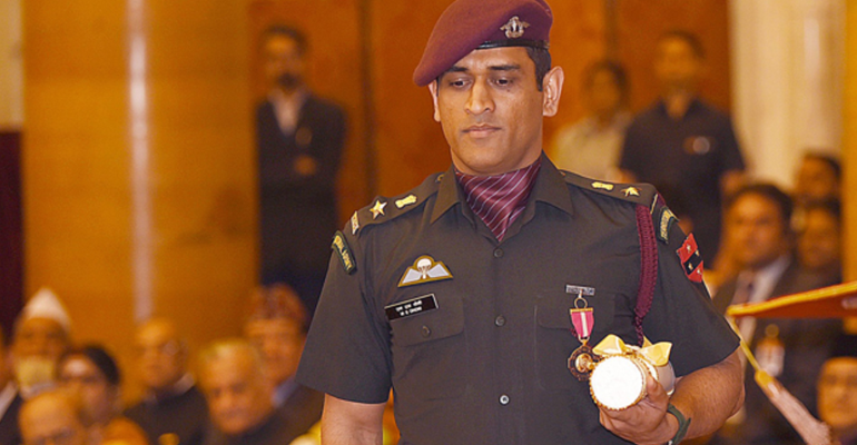 ms dhoni awarded Padma Bhushan