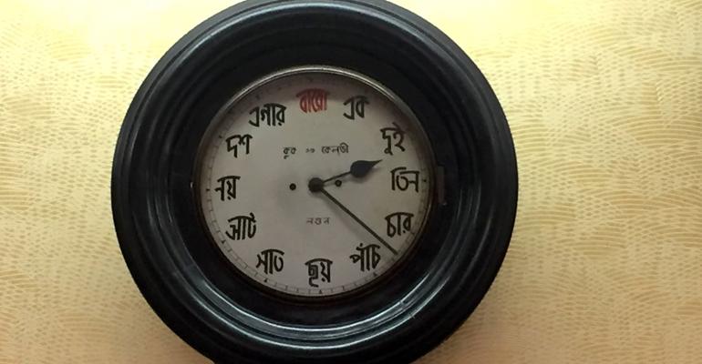 kolkata bengali clock