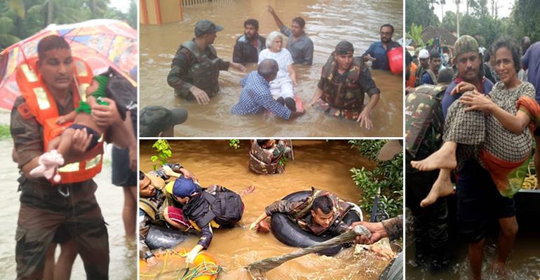 Kerala floods humanity restored