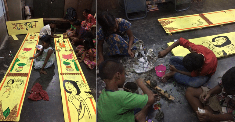 """Footpather Durga Pujo"" - Kids Without Roof Over Their Head Organising Pujo In Kolkata"