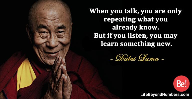 children should listen more, talk less