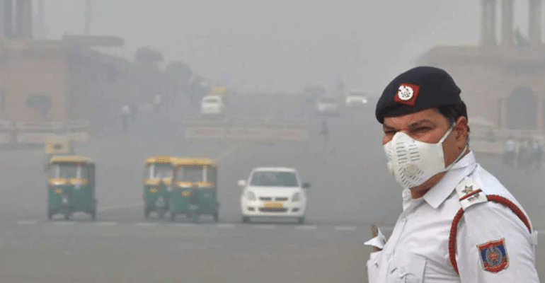 pollution rain delhi