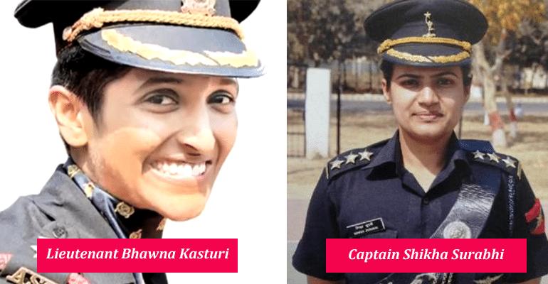 Captain Shikha Surabhi and Lieutenant Bhawna Kasturi