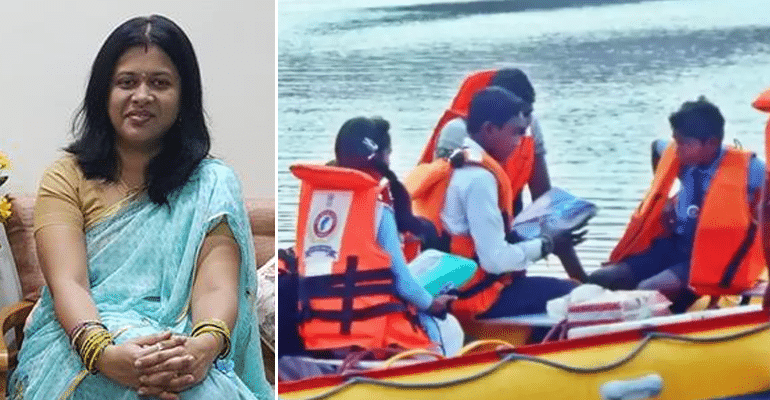 Waving Off Daily Ordeal: IAS Officer Steps In To Help Girls Who Rowed Tin-Drum Boats To School