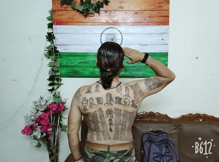 Meet The Indian Who Tattooed 560 Martyr's Names On His Body As A Tribute To Their Sacrifice