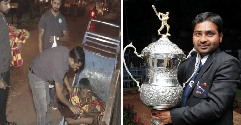 India's Ex-Captain Of Blind Cricket Team Celebrated New Year By Distributing Food And Blankets