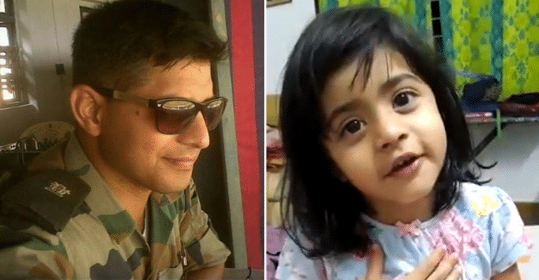 "What Is ""Army""? 3-YO Daughter Of Martyred Soldier In 2016 Nagrota Attack Explains Best"