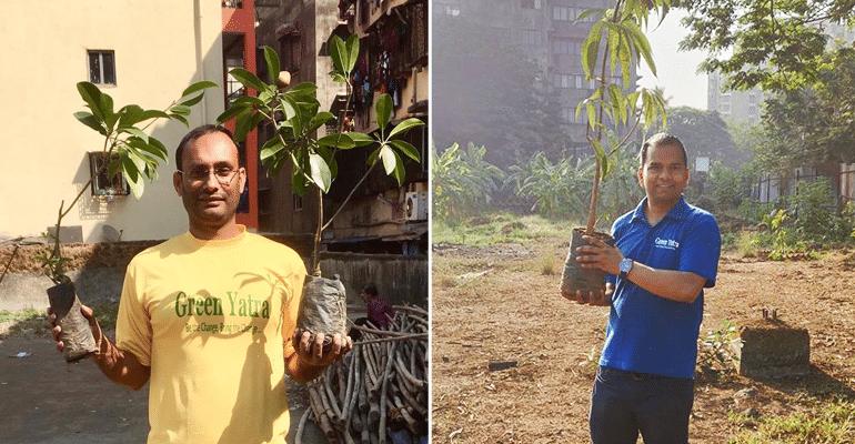 Pradeep Tripathi and Durgesh Gupta - Green Yatra NGO