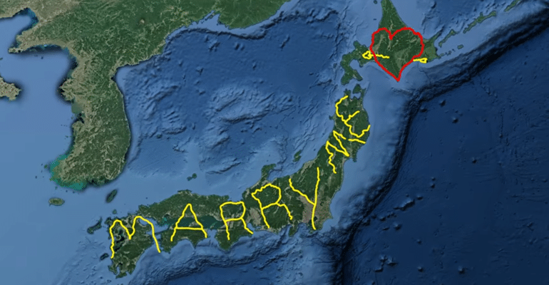 marry me gps proposal