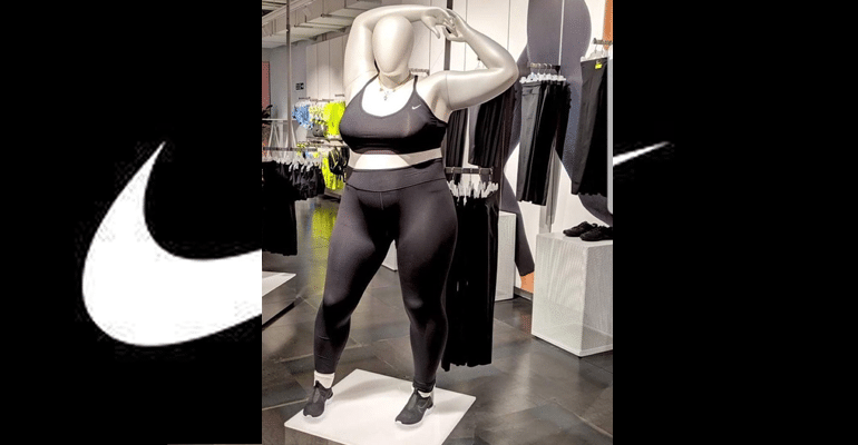 Nike Introduces Plus-Size Mannequins Because People Come In All Shapes And Sizes