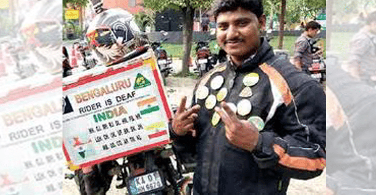 Denied A Driving Licence, This Hearing-Impaired Man Covers 17,836Km On Bike To Prove A Point