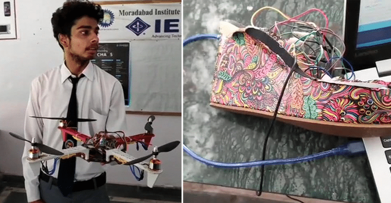 Engineering Students Design 'Sandal-Drone' Security System So That No Woman Feels Unsafe