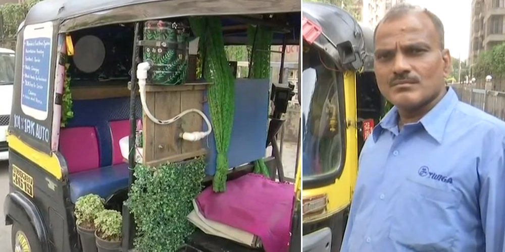 A Fan, Wash Basin And Much More: This Mumbai Autorickshaw Is All About A Comfortable Ride