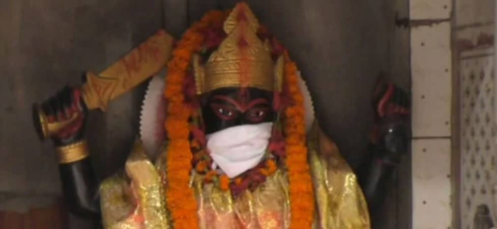 Protecting Gods From Pollution: Idols In Varanasi Temple Are Wearing Masks Too