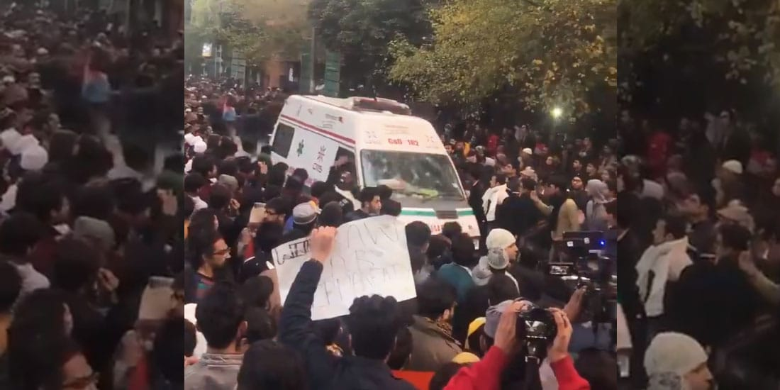Students Making Way For An Ambulance Amid CAB Protests Is Winning Hearts Online