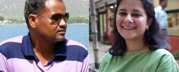 Anhad films founders, Mohan Kumawat and Sania Hashmi